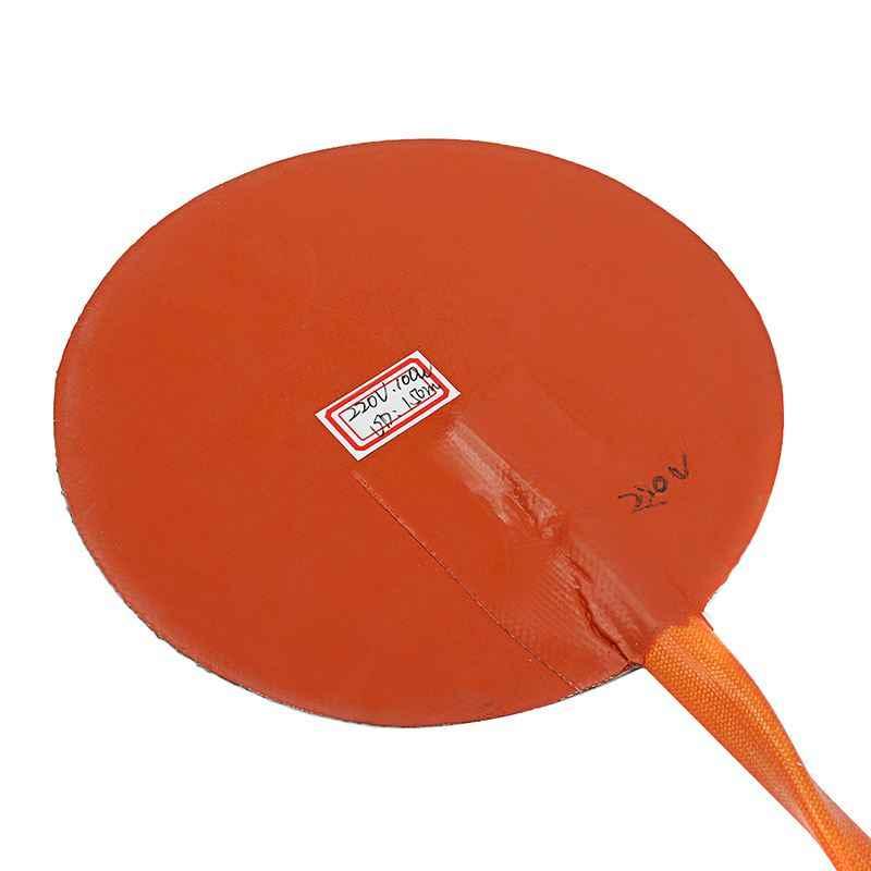 120 v/220 v 80 w redondo aquecedor de silicone com termostato lcd controlador digital silicone almofadas aquecimento elétrico 6 polegadas esteira calor