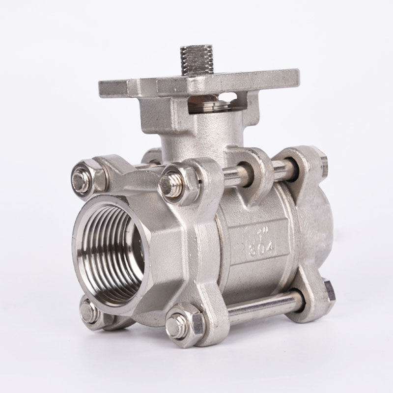Type 3PC Stainless Steel High Platform <font><b>Ball</b></font> <font><b>Valve</b></font> <font><b>1</b></font>