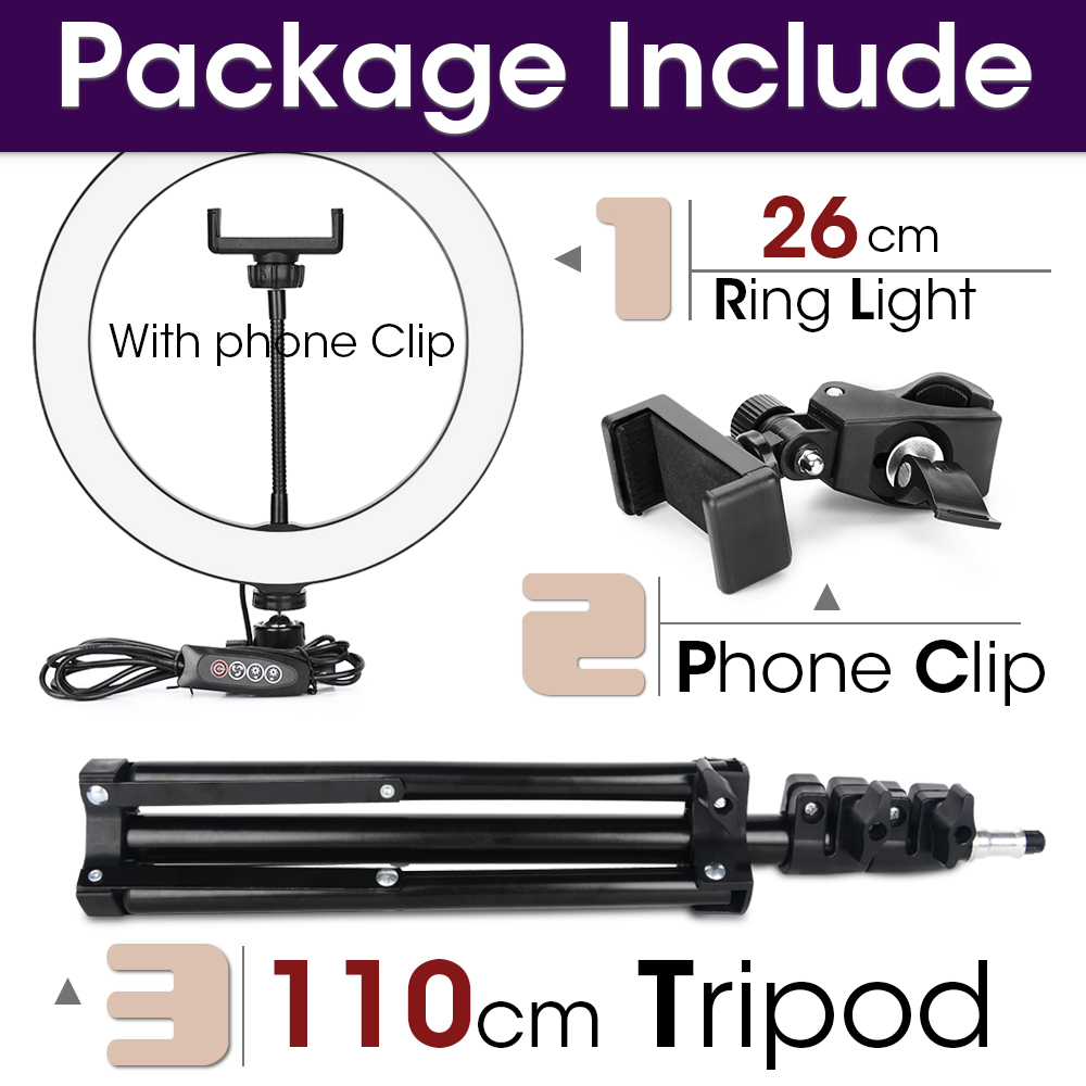 26cm and 110cmTripod
