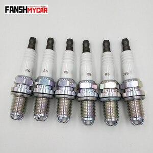 Image 1 - 6pcs/lot 12120037607 BKR6EQUP Spark Plug For BMW M54 M62 E38 E65 E34 E36 E39 E46 Z3 320 528