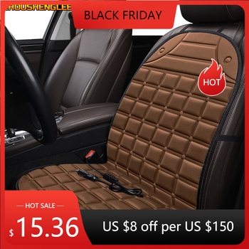 ZHOUSHENGLEE 12V Heated car seat cover for Ford all models kuga fiesta mondeo fusion focus ranger Everest Taurus Ecosport Winter image