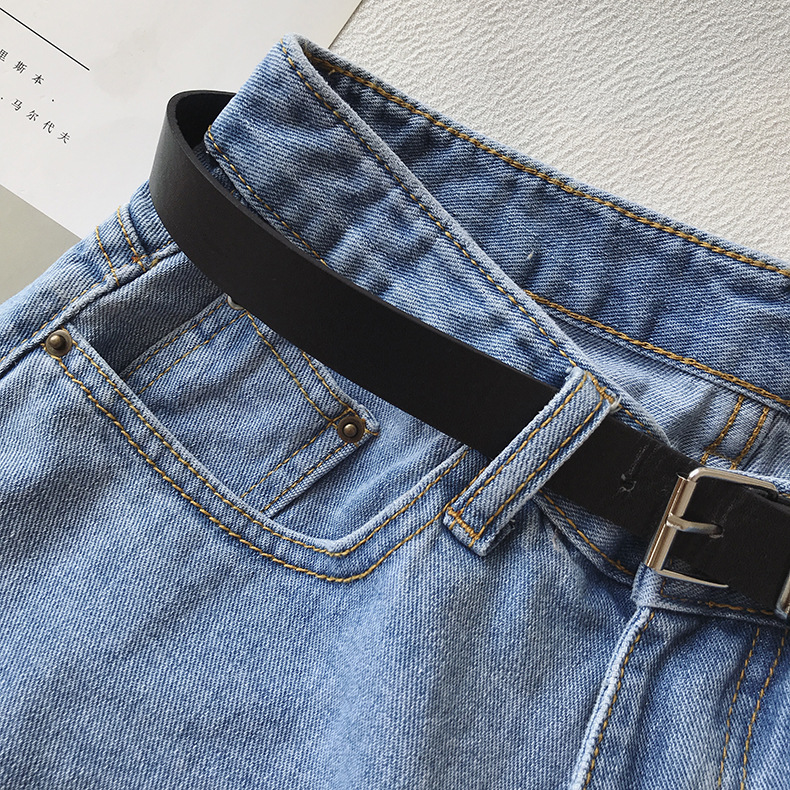 H37313fda0c244df18440ef161166196et - Women Summer Shorts Fashion Free Belt High Waist Loose Casual Slim Denim Shorts Women Shorts Jeans mujer femme Korea Shorts