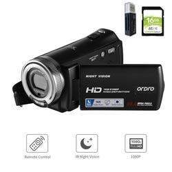 Ordro V12 Vlog Video Camera Digital Home Camcorder Filmadora, 1080P HD Night Vision, for YouTube Blogger Photograpic