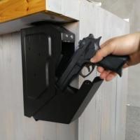 Biometric Fingerprint Safe Box Cold rolled Steel Security Gun Strongbox Portable Key Valuables Jewelry Storage Box