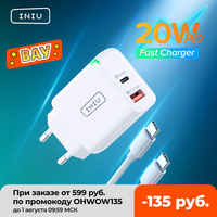 INIU LED USB Type C Charger 20W PD 3.0 QC4.0 Fast Charging USB-C Charger For iPhone 12 11 Pro Max Samsung S21 S20 Huawei Xiaomi