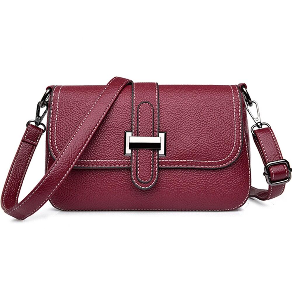 2019 Spring Sac Female Leather Messenger Bag Feminina Bolsa Leather Luxury Handbags Women Bags Designer Ladies Shoulder Bag