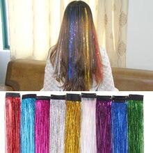 Bb клип в один цвет радуги Блестки для волос Синтетический головной