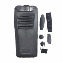 Nova frente escudo capa habitação caso + botão refurb kit para kenwood nx340 nx240 walie talkie rádio acessórios