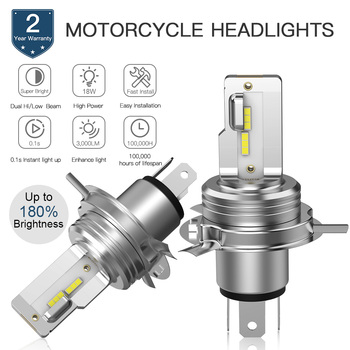 Motorcycle ATV UTV LED Headlight Bulbs H4 Hi/Low Beam 6000K CSP 1860 LED Chip Moto Lights 12V 1500LM h4 led Pure White Lamps 12v 24v relay harness control cable for h4 hi lo hid bulbs wiring controller