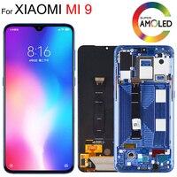6.39 amamamoled lcd original para xiaomi mi 9 mi 9 display para xiaomi 9 display lcd toque screendigitizer assembléia com quadro