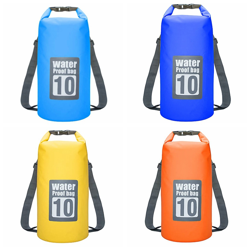 Floating Waterproof Dry Bag 10L Pack Roll Top Sack Swimming Rafting Kayaking Drifting Backpack For Camping Hiking Beach Fishing