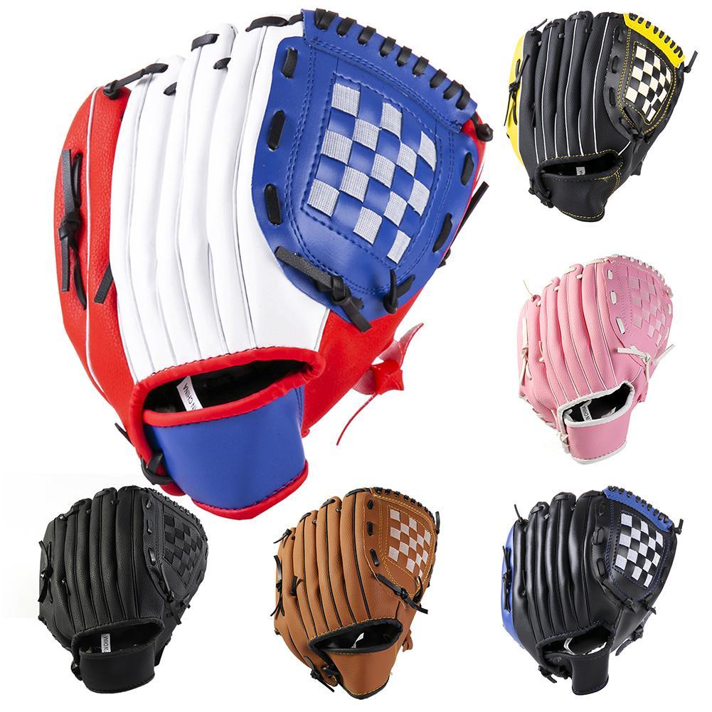 Kids Adult Leather Baseball Glove Softball Mitt Left Hand Thrower Training