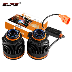 EURS светодиодный светильник для автомобиля H7 H11 HB3 HB4 светодиодный противотуманный светильник H8 H9 лазерный точечный светильник светодиодный ...