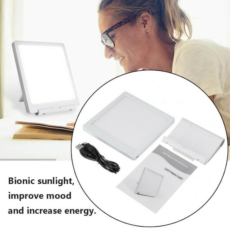 5W SAD Phototherapy Light 10000 LUX Bionic-Daylight Affective Disorder USB LED Lamp Therapy Adjustable Relief Listless Read Lamp