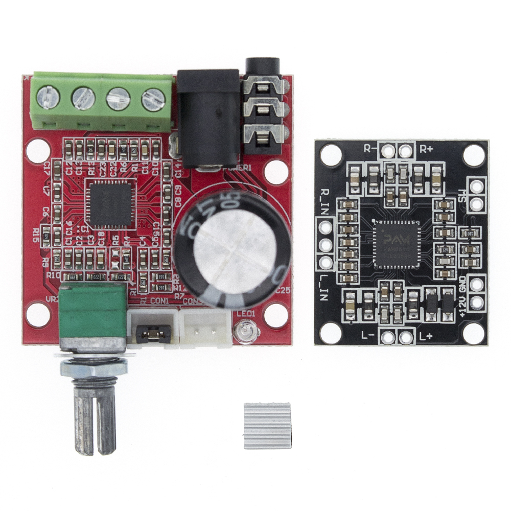 12V Mini Hi-Fi PAM8610 Audio Stereo Amplifier Board 2X10W Dual Channel D Class(High Efficiency) Adjust The Volume