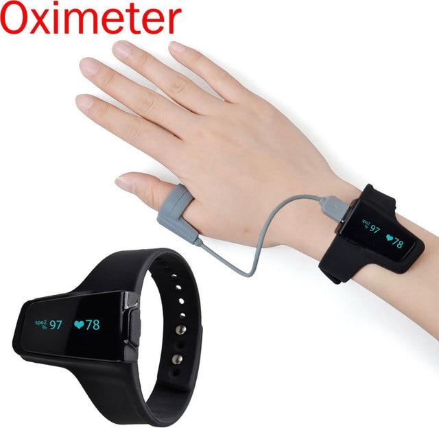 Pulse Heart rate Blood Oxygen Oximeter Bluetooth Smart Wrist Oled Sleep Apnea Monitor Insomnia Heart Beat Finger Pulsioximetro