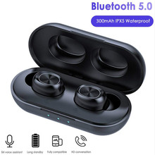 TWS Bluetooth Earphones Streo Wireless Earbuds with LED Power Display Case 3D St