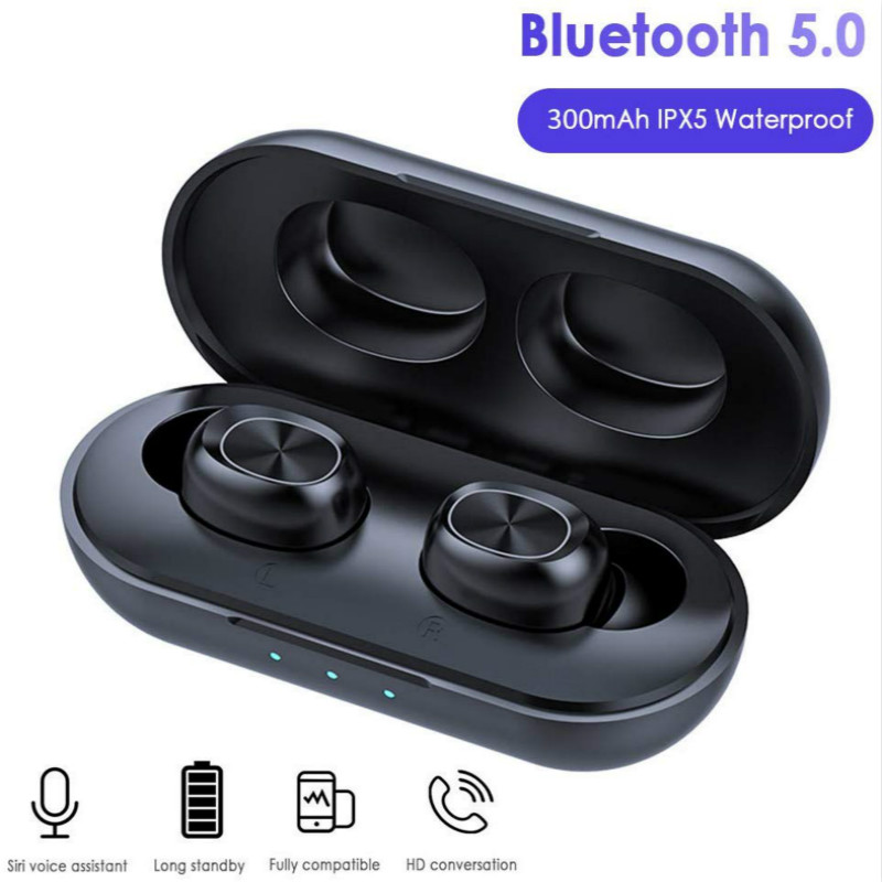 TWS Bluetooth Kopfhörer Streo Drahtlose Ohrhörer mit LED Power Display Fall 3D Stereo Sound IPX5 Wasserdichte Whit Lade Box