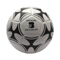 Hot Sale professional soccer ball standard Size 3 PU leather genuine seamless training football for children and adults