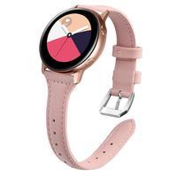 Кожаный ремешок для samsung Galaxy Watch 42 мм Active 2 44 мм 40 мм браслет ремешок 20 мм браслет ремешок для Huami Amazfit GTR 42 мм