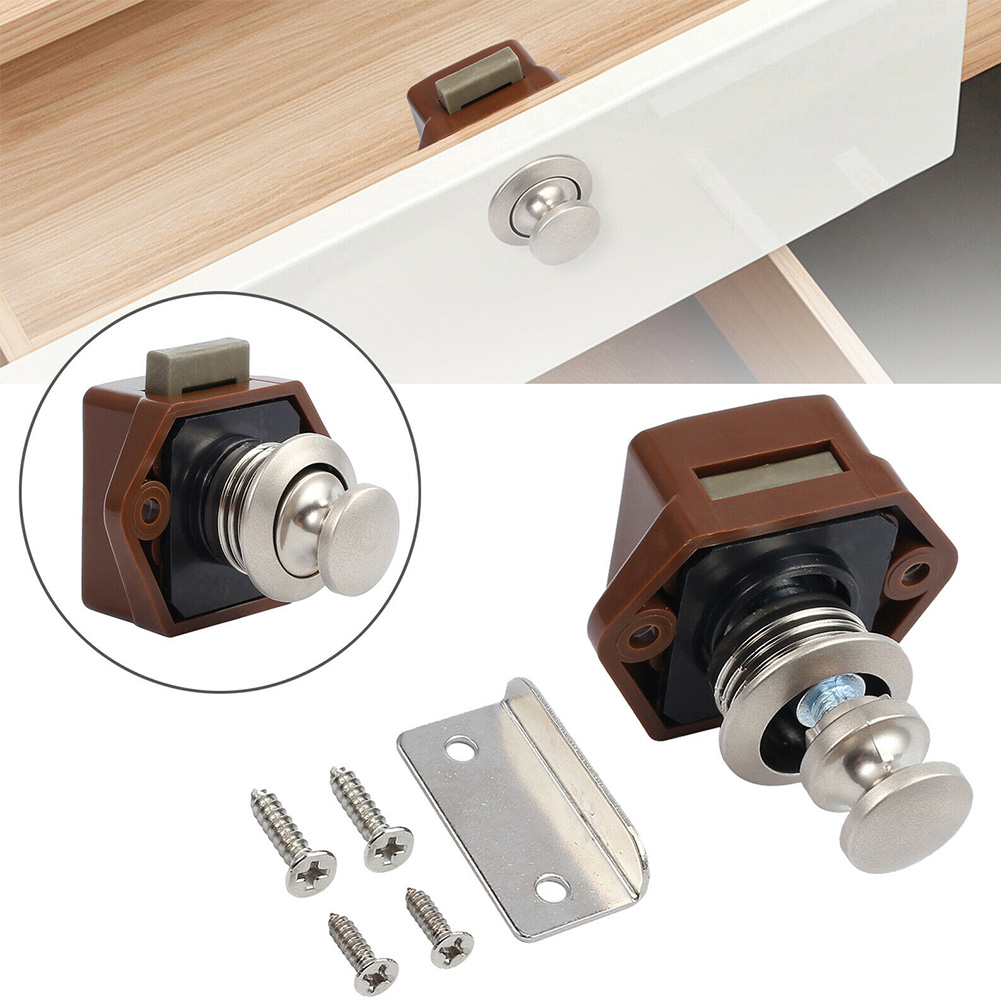 Cars Yachts Catch Knob Desk Drawer Latch Push Button Lock Handle Cupboard Door RV Furniture For Caravan Motorhome Boat Cabinet(China)