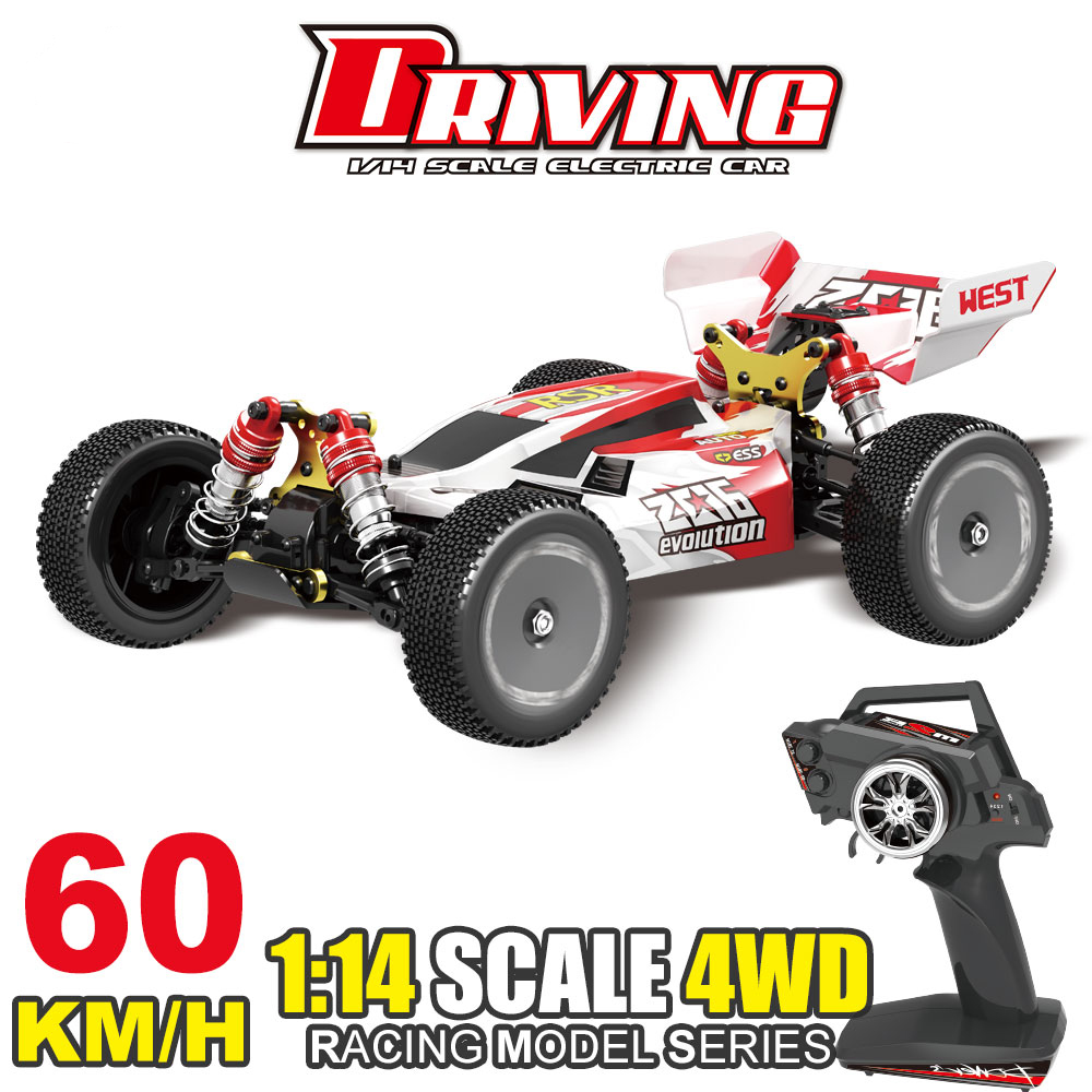 New 1/14 RC Racing Car 550 Motor 60km/h High Speed 2.4GHz 4WD RTR RC Car fast Racing Off-Road Drift Car