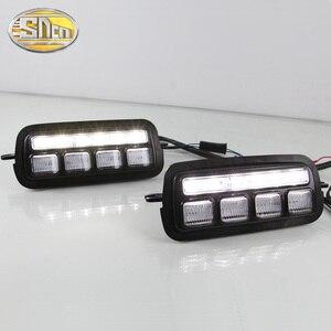 Image 2 - 2 個カースタイリングアクセサリー LED 日中走行用ライト Lada Niva 4x4 1995 2019 ターン信号ライトランプ DRL テールライト