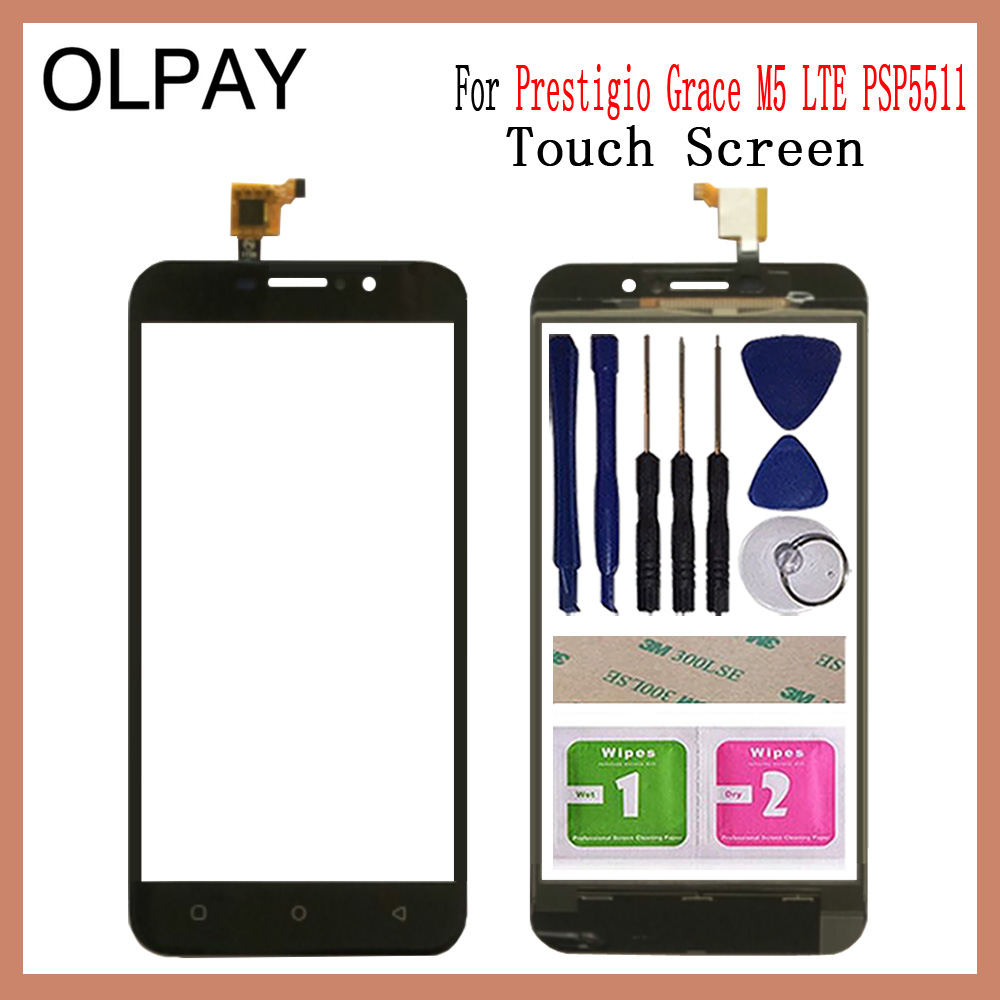 OLPYA 5.0'' Touchscreen For Prestigio Grace M5 LTE PSP5511 DUO Touch Screen Glass Digitizer Panel Lens Sensor Glass Repair Parts