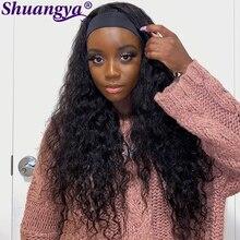 Water Wave Headband Wig 100% Human Hair Headband Wig 8''-30