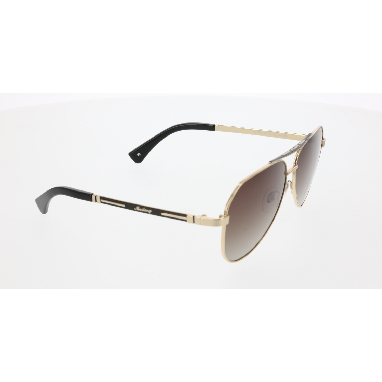 Men's sunglasses mu 1981 02 metal gold organic pilot 61-13-140 mustang