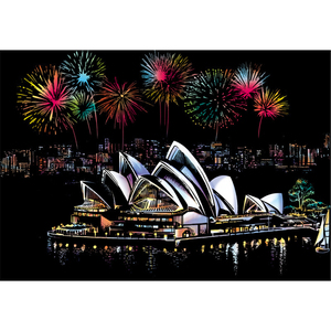 Sydney Opera House Scratch Art Paper Drawing Toys Scratch Painting Craft(China)