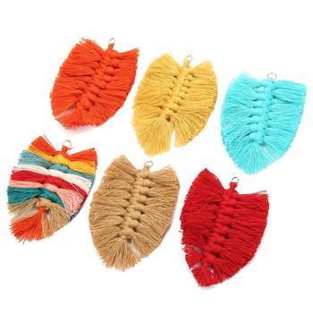 2020 New Design Bohemian Style Leaf Shape Tassel  For Women Fashion Fishbone Boho Female Dangle Drop Earrings DIY Accessories