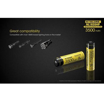 Nitecore NL1835HP 3500MAH akumulator litowo-jonowy 18650 akumulator 8A wyjście tanie i dobre opinie NITESCUBA Sigma Sony Canon NIKON Olympus CN (pochodzenie)