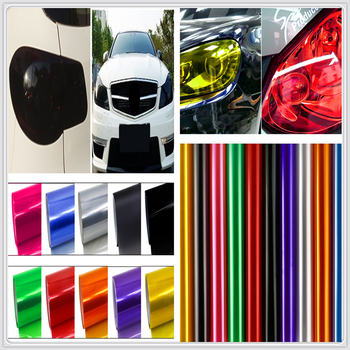 30x100cm Car HeadLight lamp Decor Vinyl Film Sticker Decal for BMW 335is Scooter Gran 760Li 320d 135i E60 E36 F30 F30 image