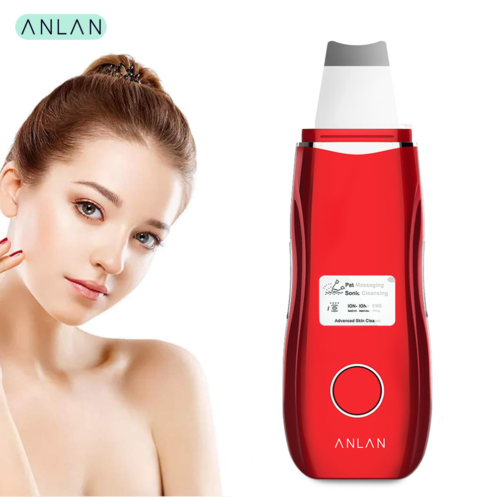 Ultrasonic Skin Scrubber Ultrasonic Face Cleaning Cleanser Blackhead Acne Removal Facial EMS Spa Massage Ultrasound Peeling Tool