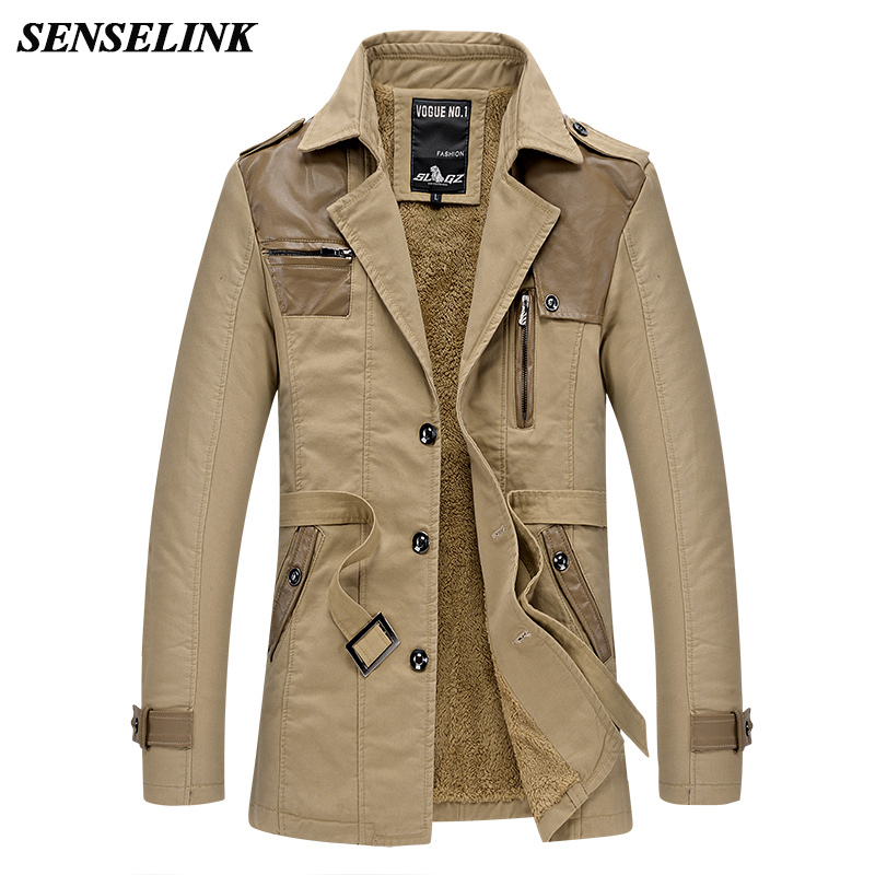 2021 New Autumn Winter Khaki Jacket Men Warm Cashmere Casual Fleece Windbreaker Men Korean Overcoat Fleece Jacket Men