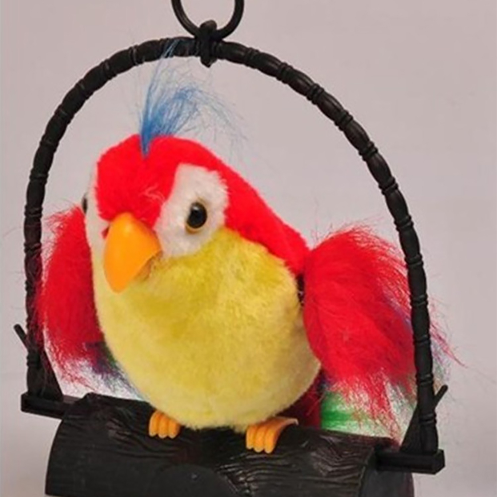 Prank Repeat Voice Funny Party Mimics Home Decor Simulation Hanging Recording Electric Parrot Imitate Talking Kids Toy Sound