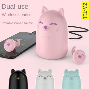 ZW-T11 Bluetooth Earphone Cartoon Wireless Earphones Rechargeable Bluetooth Headset with Microphone Hifi Headset Power Display