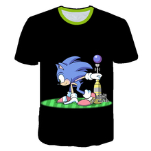 Boys T Shirt Girls Teen Tops Summer Cool Sonic The Hedgehog T-shirts 3D Baby Boy Supersonic Sonic Mario Costume Children Clothes custom name sonic t shirt boys clothes cool children clothes sonic the hedgehog mario girls sweatshirt boys t shirt kid girl top