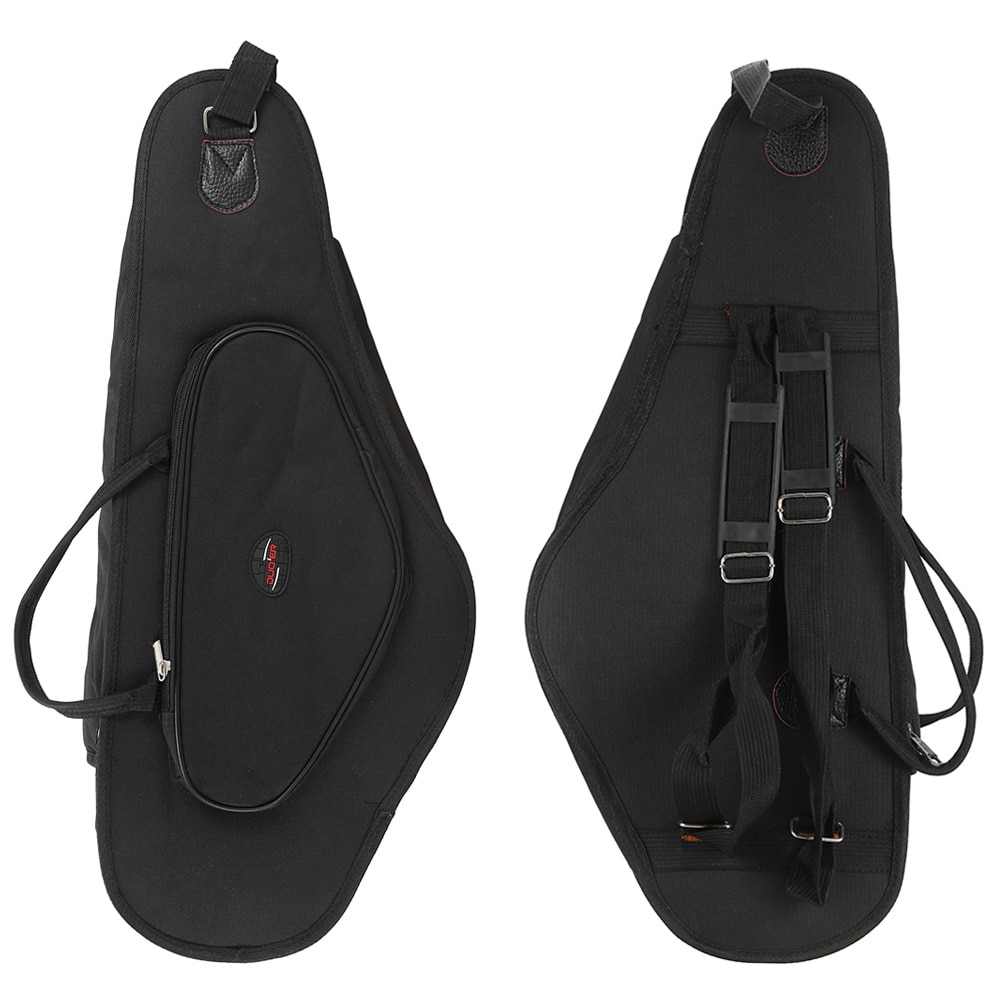 600D Thicken Padded Water-resistant Alto Saxophone Sax Bag Case 15mm Foam Double Zipper With Adjustable Shoulder Strap Pocket