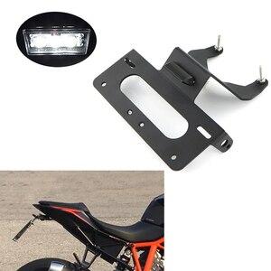 Image 1 - Apto para ktm duke r 1290 2014 2019 cauda traseira tidy fender eliminator kit placa de registro suporte preto