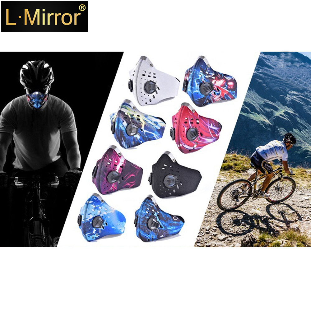 L.Mirror 1Pcs Professional PM2.5 Cycling Mask Unisex Dust Proof Anti-smog Breathable Mouth  Diving