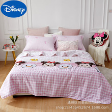 Original Disney children's air-conditioning quilt pure cotton Frozen summer quilt summer kindergarten cool quilt boys and girls