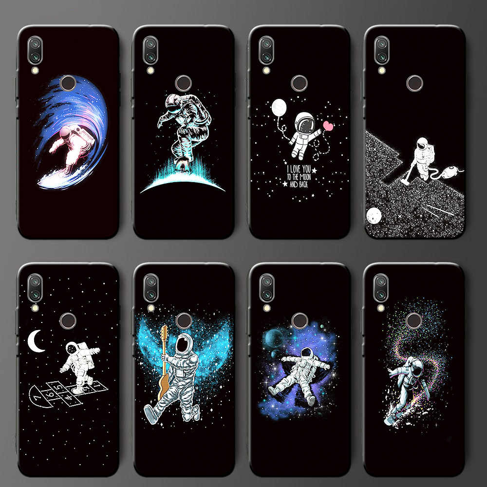 For Xiaomi Redmi 7 Black TPU Cute CartoonSilicone Phone Case Capa Fundas For Xiaomi Redmi7A Redmi Note 7 Back Cover Shell Coque