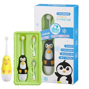 Electric Toothbrush Massage Vibration Sonic Waterproof Kids Baby 3-Replacement Children