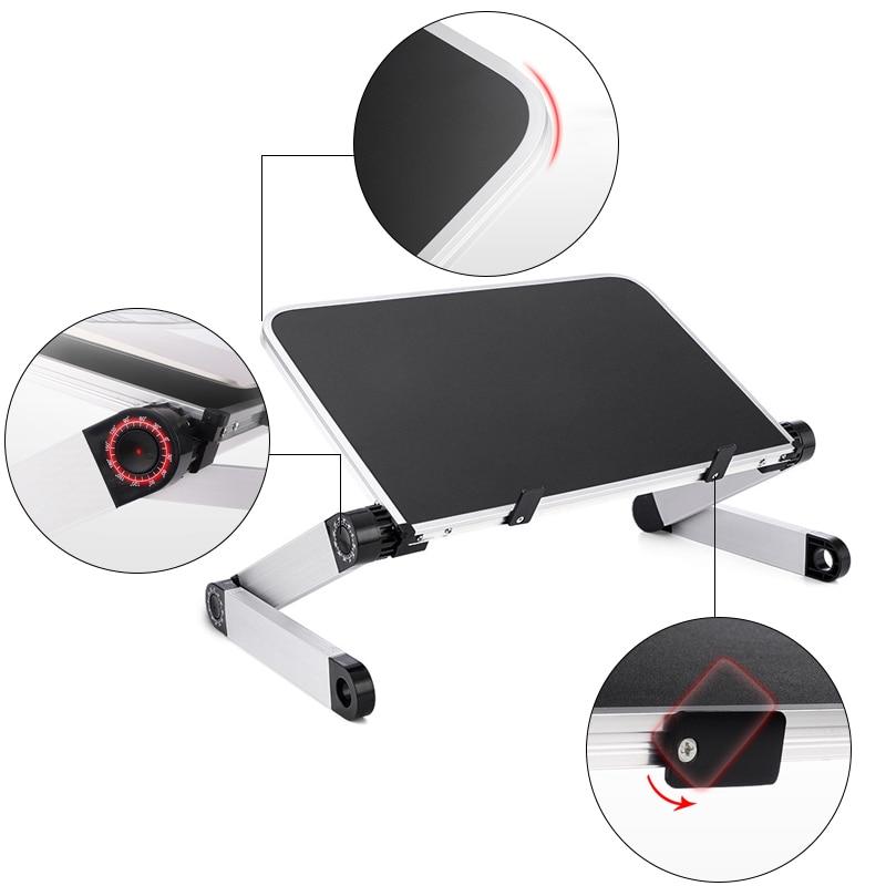 Image 3 - Portable Laptop Table Adjustable Notebook Stand Desk for Office Bed Folding Desk Adjust 360 Degree Laptop Computer Stand HolderLaptop Desks   -