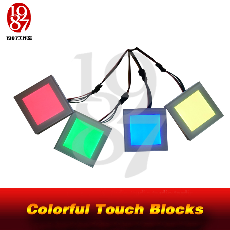 JXKJ1987 Room Escape Game Prop Colorful Touch Blocks Adjust The Blocks To Correct Colors, The Lock Will Be Released