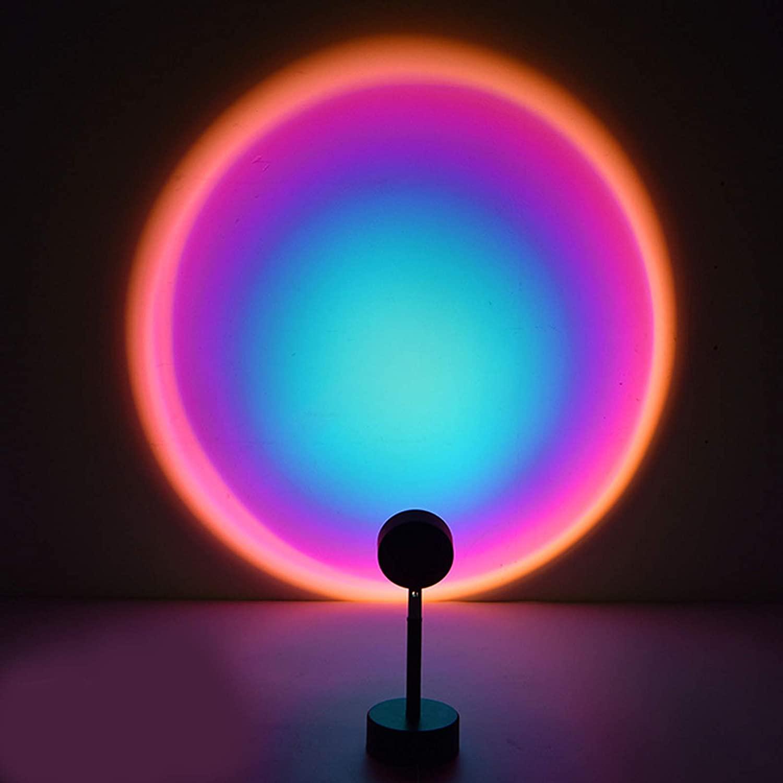 Светильник-проектор С закатом, Радужный ночник, креативный дизайнерский светильник, фоновое украшение на стену, цветной заполняющий светил...