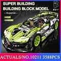 2021 MOC 3588pcs Sport Car Lamborghini Building Blocks Technical Super Racing Model Bricks Toys Birthday Gift For Boyfriend
