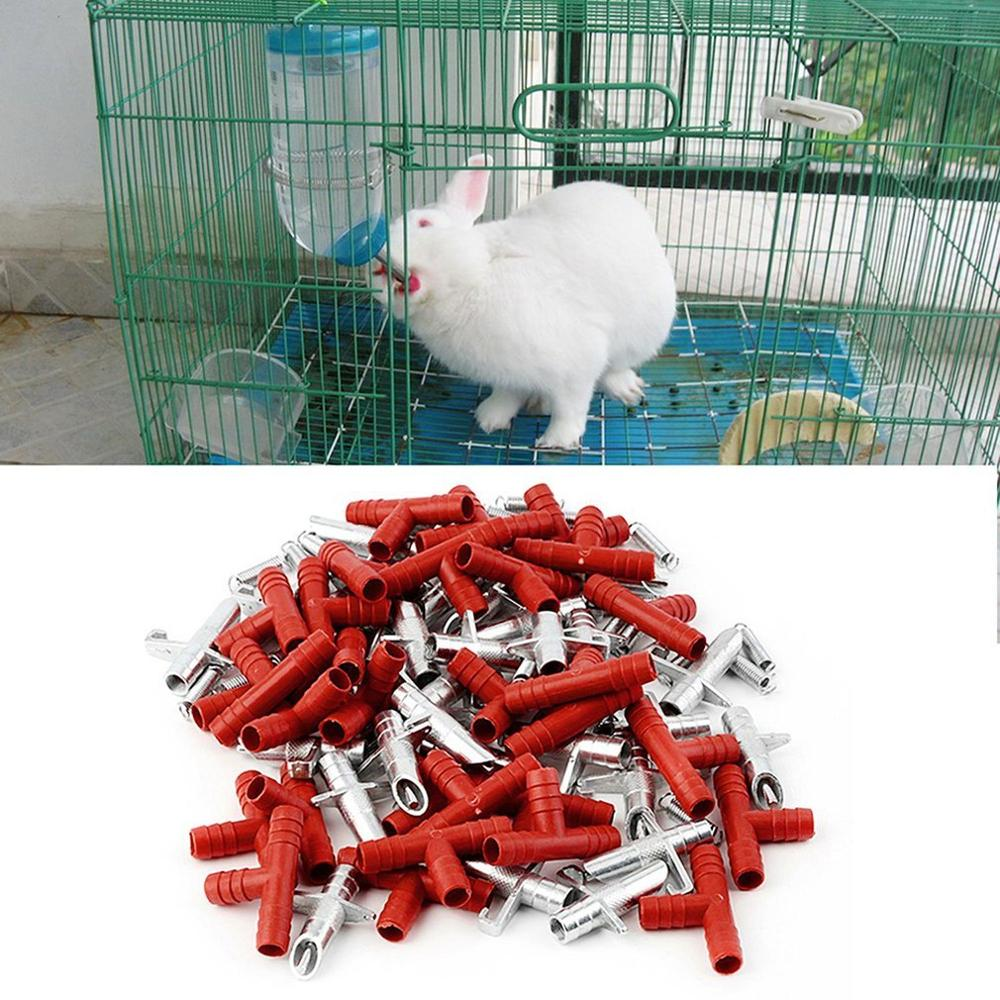 30pcs Rabbit Drinker Nipple Automatic Waterer Nipples font b Pet b font Feeder Waterer For Rabbit
